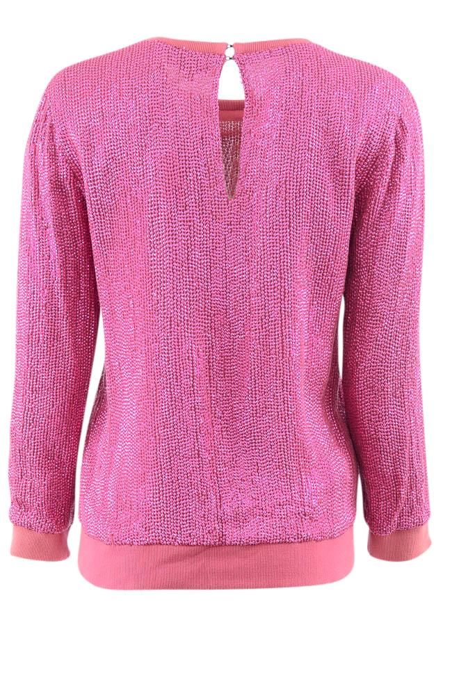 MLV Sequin Scoop Neck Pullover Sweater - S APPAREL MLV