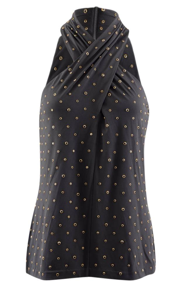 Kobi Halperin Sleeveless Embellished Blouse - S APPAREL Kobi Halperin S Black