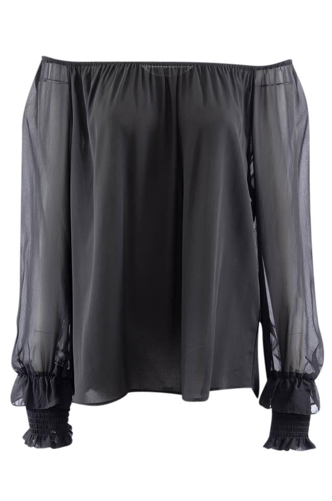 Karen Kane Off Shoulder Long Sleeve Top - XL APPAREL Karen Kane XL Black