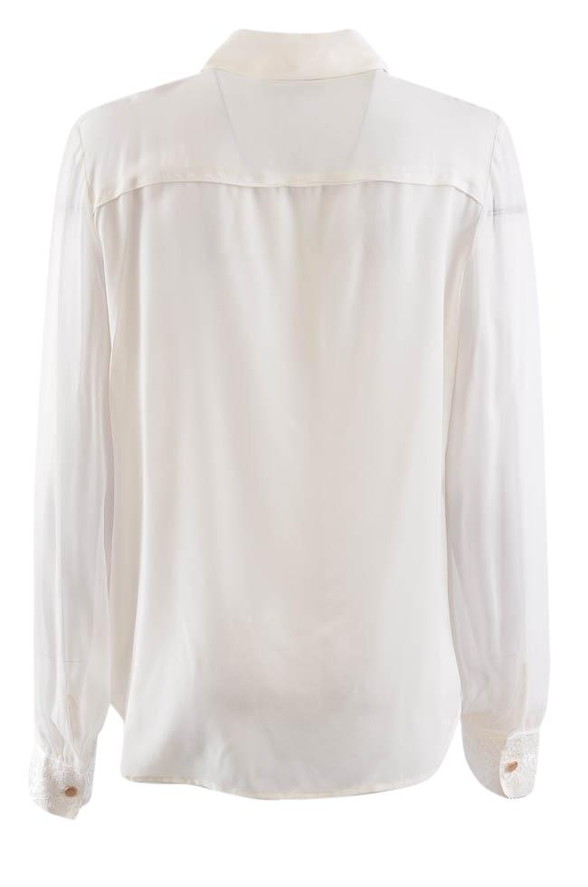 DKNY Long Sleeve Button Down Lace Blouse - M APPAREL DKNY
