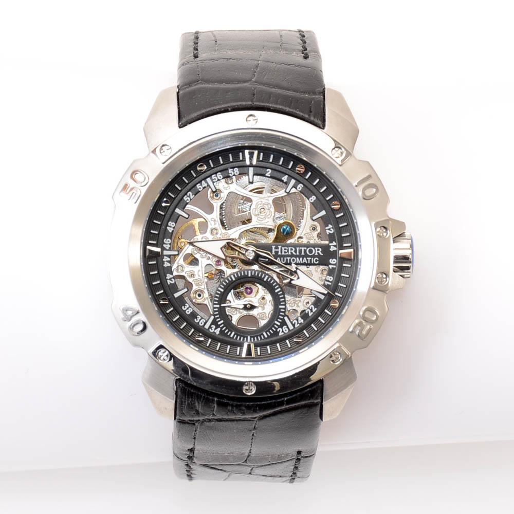 Heritor Conrad Stainless Steel Skelton Automatic Watch JEWELRY Heritor Default Title