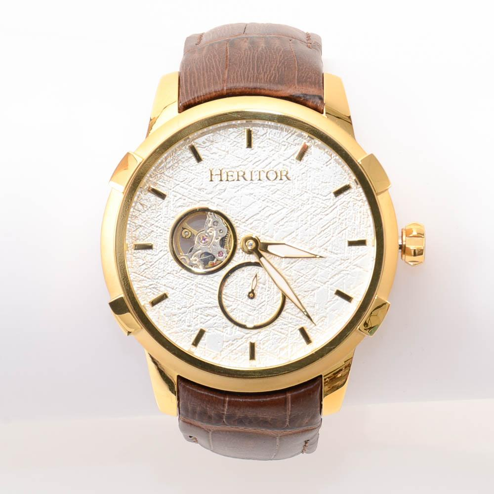 Heritor Callisto Textured Dial Automatic Watch JEWELRY Heritor Default Title
