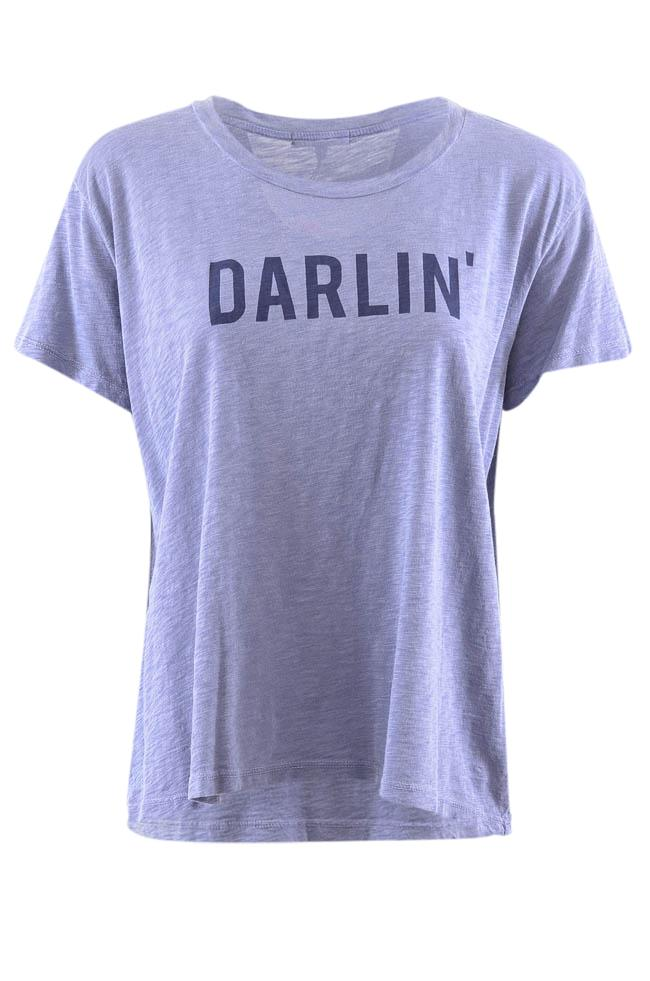 Sundry Darlin' Printed Short Sleeve T-Shirt - M APPAREL Sundry M Blue