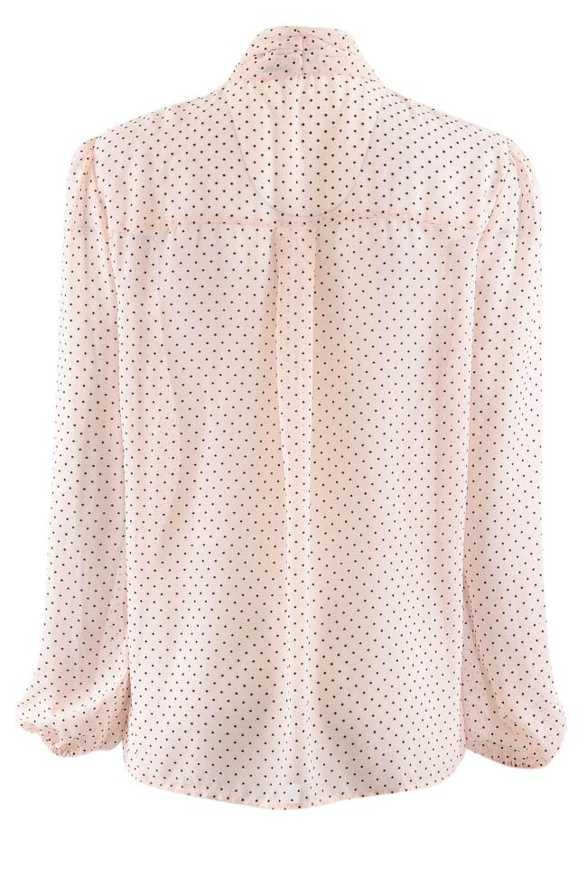 Zoe by Rachel Polka Dot Button Down Long Sleeve Blouse - M APPAREL Zoe by Rachel