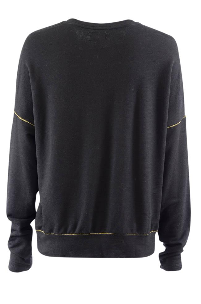 Sundry Long Sleeve Pullover Sweater - L APPAREL Sundry