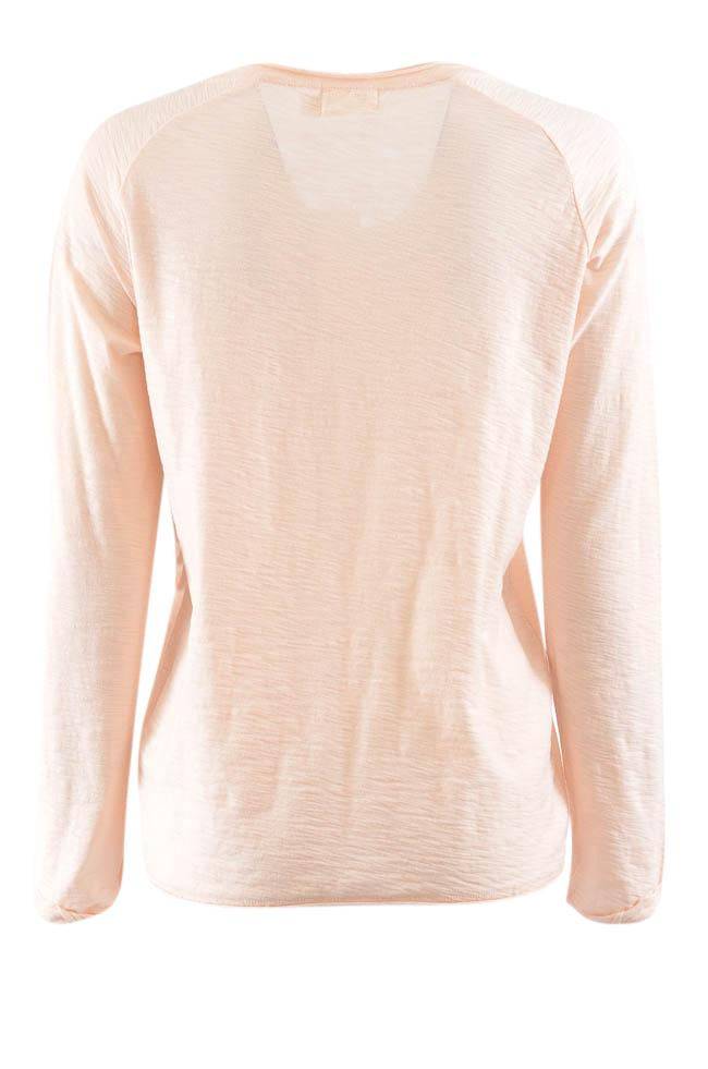 Nation V-Neck Long Sleeve Textured Knit Top - M APPAREL Nation