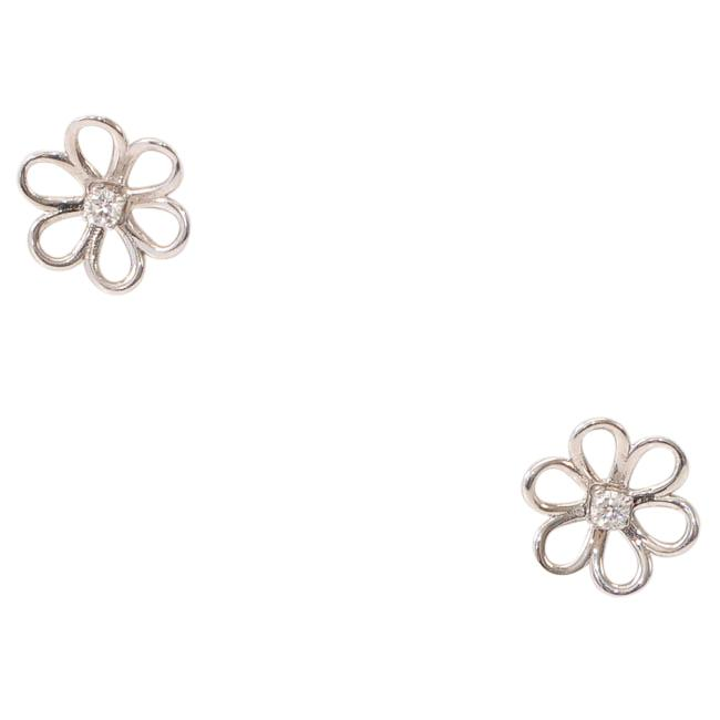 Tous Maggie 18K Floral Diamond Stud Earrings JEWELRY Tous