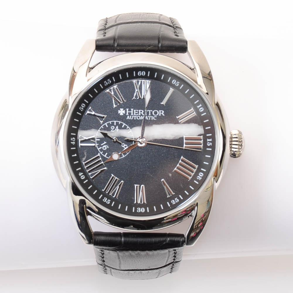 Heritor Mens Automatic Stainless Steel Stripe Watch JEWELRY Heritor Default Title