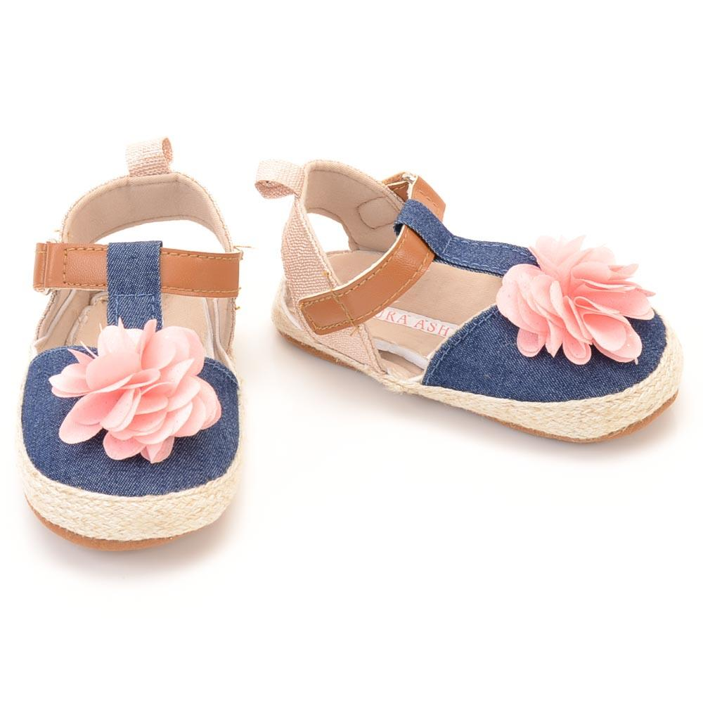 Baby Girls' Laura Ashley Floral T-strap Shoe SHOES Laura Ashley 2 Baby Blue