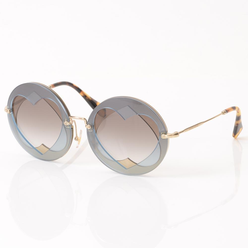 Miu Miu Cutout Sunglasses ACCESSORIES Miu Miu Blue