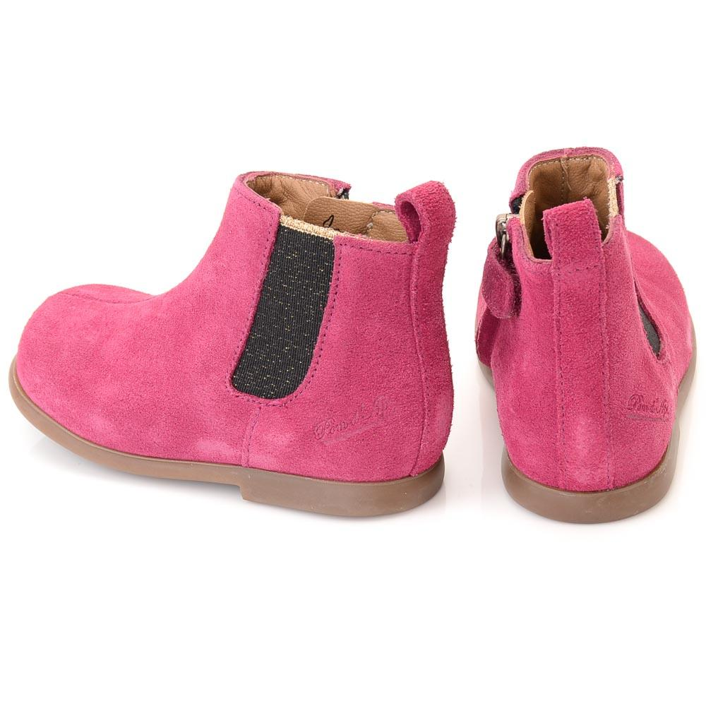 Baby Girls' Pom D'api Suede Zip Boot - 4 SHOES Pom D'api