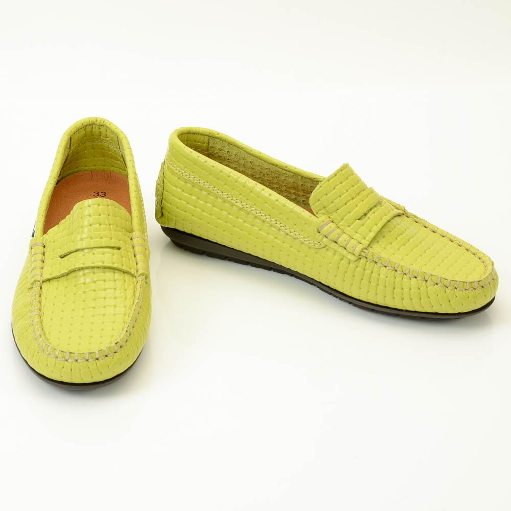 Boys' Atlanta Moccasin Woven Leather Loafer SHOES Atlanta Moccasin 2 Kid Green