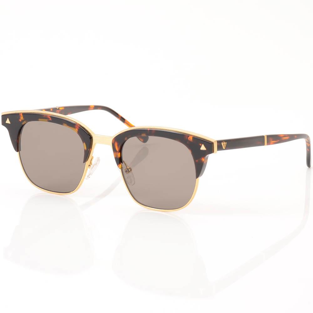 Valley Larynx Tortoise Semi-rimless Cat Eye Sunglasses ACCESSORIES Valley Brown
