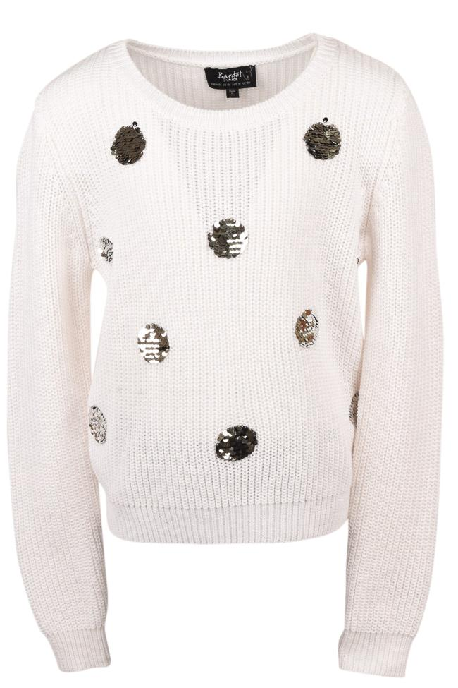 Girls' Bardot Junior Flippy Spot Pullover Sweater - 10 APPAREL Bardot Junior 10 Ivory