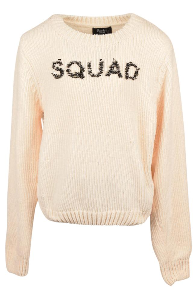 Girls' Bardot Junior Embellished Squad Pullover Sweater - 18 APPAREL Bardot Junior 18 Ivory