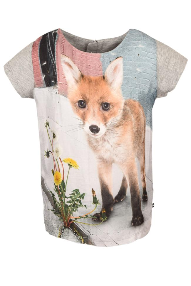 Girls' Molo Rubertha Urban Fox T-shirt Top - 8 APPAREL Molo 8 Gray