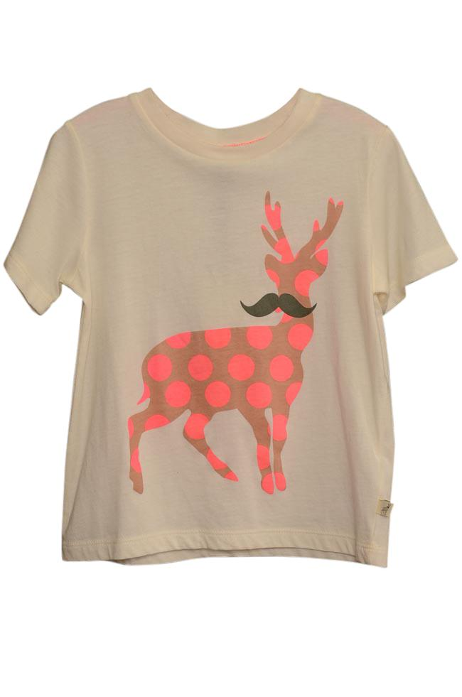 Girls' Stella McCartney Kids Arlo Dear T-Shirt Top APPAREL Stella McCartney Kids 4 Ivory