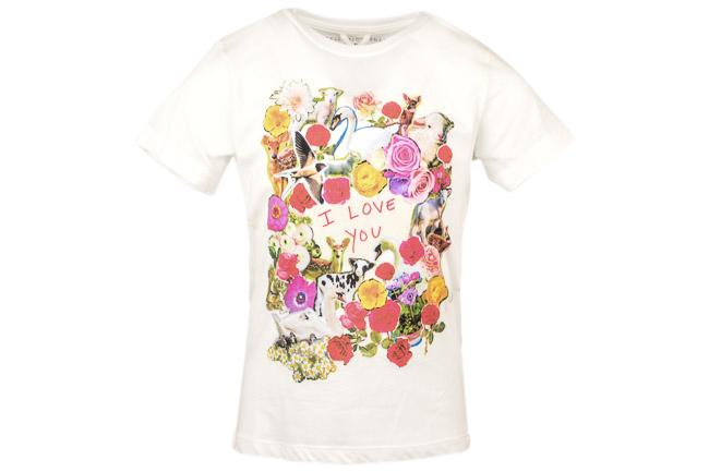 Girls' Stella McCartney Kids I Love You Print T-shirt Top - 5 APPAREL Stella McCartney Kids 5 White
