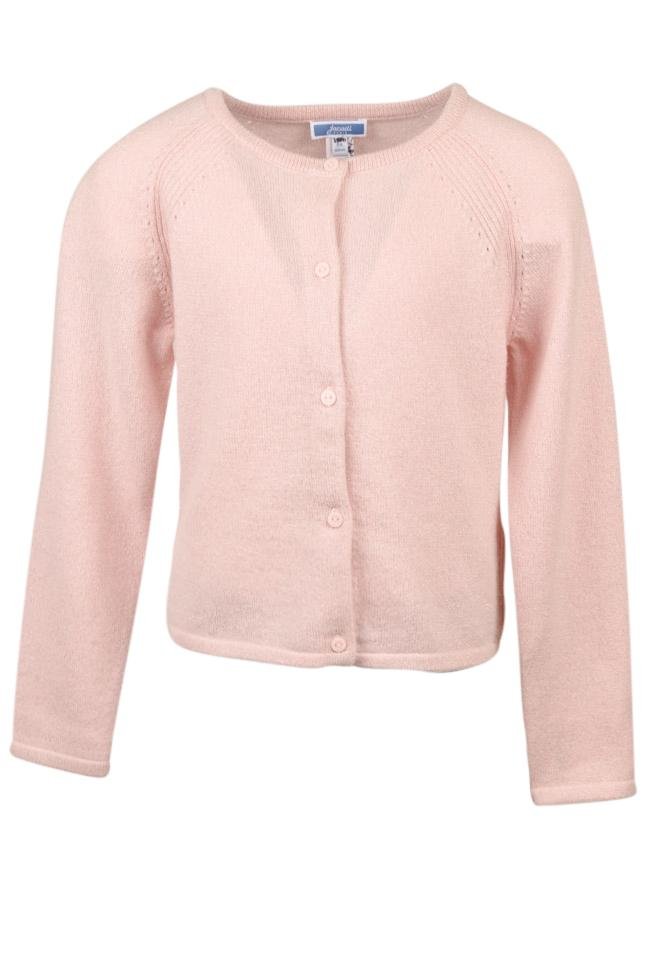 Girls' Jacadi Metallic Cardigan Sweater - 8 APPAREL Jacadi 8 Pink