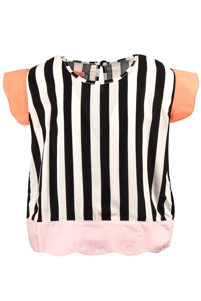 Girls' BangBang Copenhagen Striped Jenny Shirt - 7/8 APPAREL BangBang Copenhagen 7/8 Black