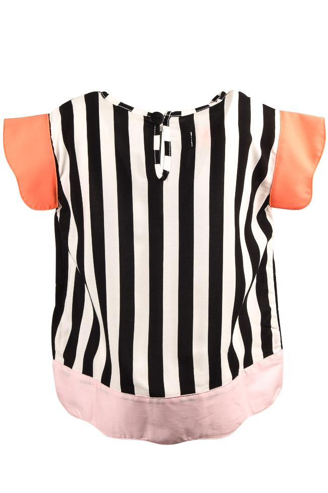 Girls' BangBang Copenhagen Striped Jenny Shirt - 7/8 APPAREL BangBang Copenhagen