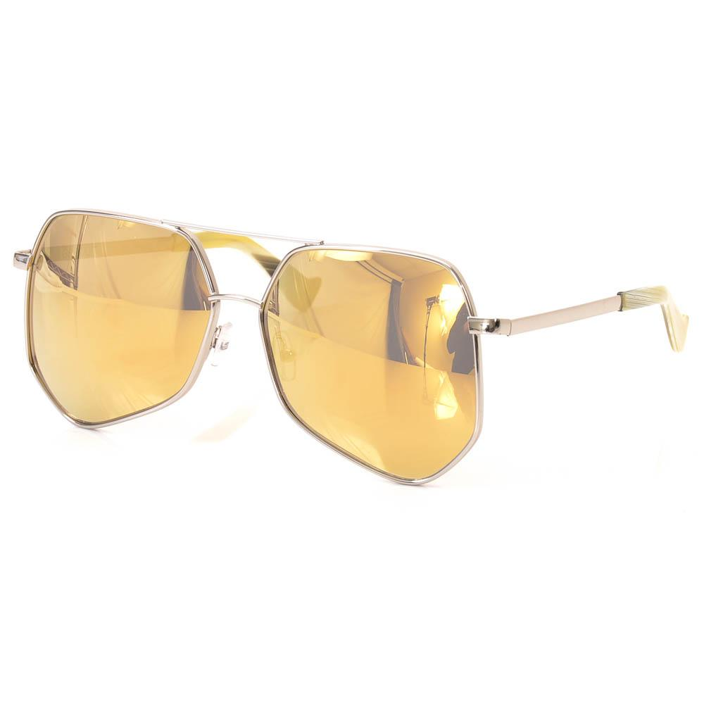 Gray Ant Megalast Hexagon Aviator Sunglasses ACCESSORIES Gray Ant 61-16-143 Silver