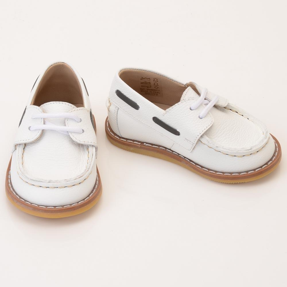 Baby Girls' Petits Marcheurs Boat Shoe - 5 SHOES Petits Marcheurs 5 Baby White