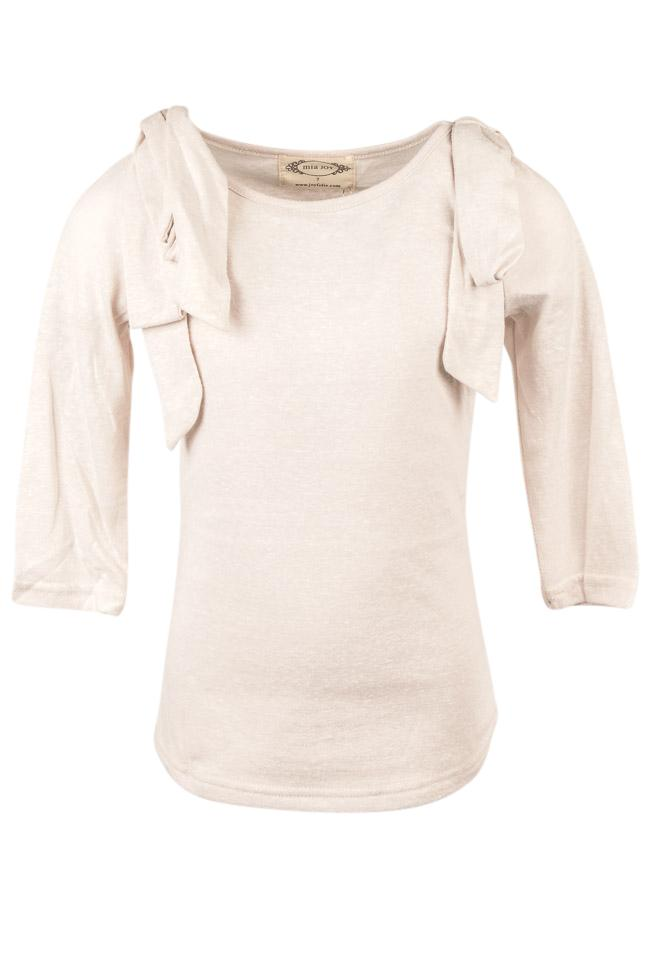 Girls' Mia Joy Lorelie Bow Top APPAREL Mia Joy 5 Beige