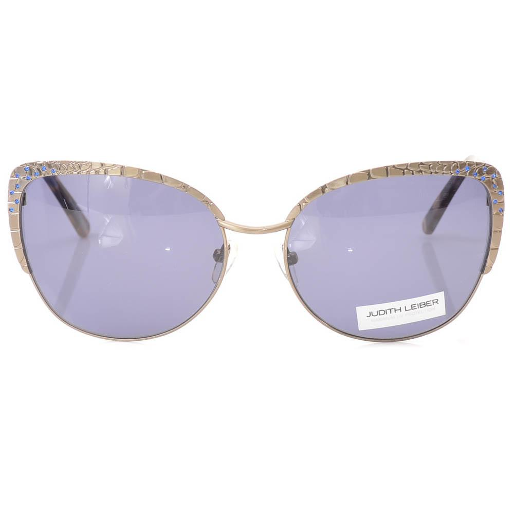 Judith Leiber Embellished Engraved Crocodile Cat Eye Sunglasses` ACCESSORIES Judith Leiber