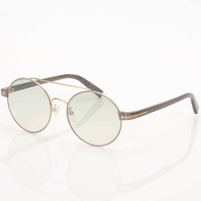 Tom Ford Retro Cutout Round Sunglasses ACCESSORIES Tom Ford 55-18-140 Brown