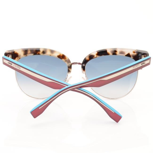 Fendi Tortoise Colorblock Cat Eye Sunglasses ACCESSORIES Fendi