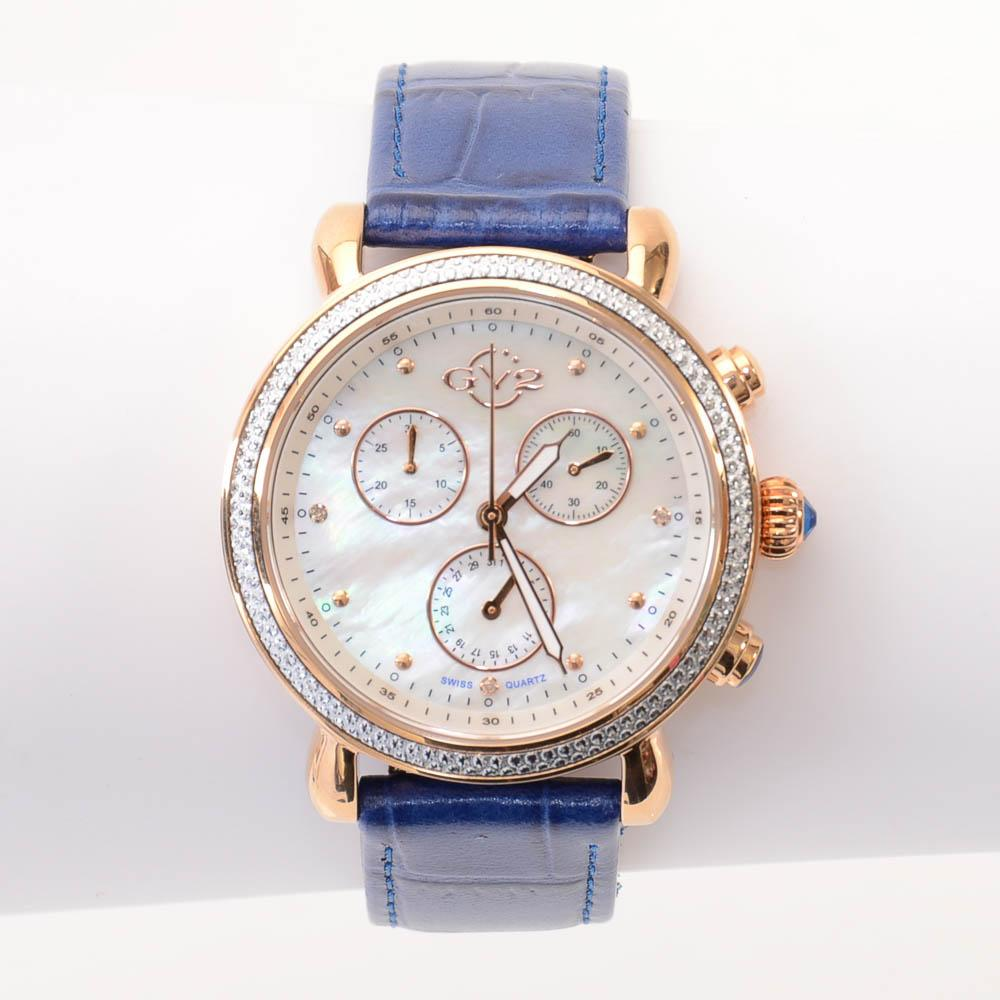 GV2 by Gevril Marsala Mother of Pearl Chrono Crystal Watch JEWELRY GV2 by Gevril Default Title