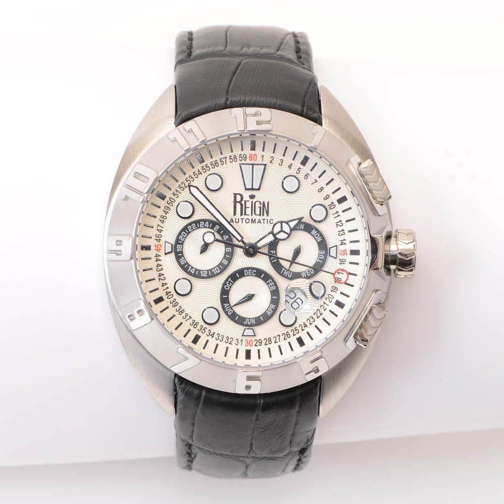 Reign Chronograph Automatic Stainless Steel Watch JEWELRY Reign Default Title
