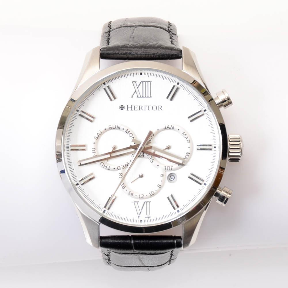 Heritor Benedict Stainless Steel Day Date Automatic Watch JEWELRY Heritor Default Title