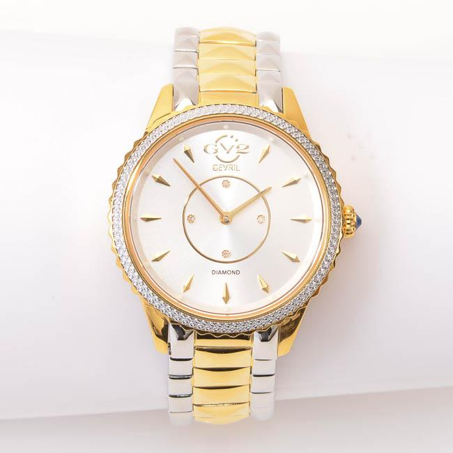 GV2 Gevril Siena Ladies Quartz Watch - Gold/Silver JEWELRY GV2 by Gevril Default Title