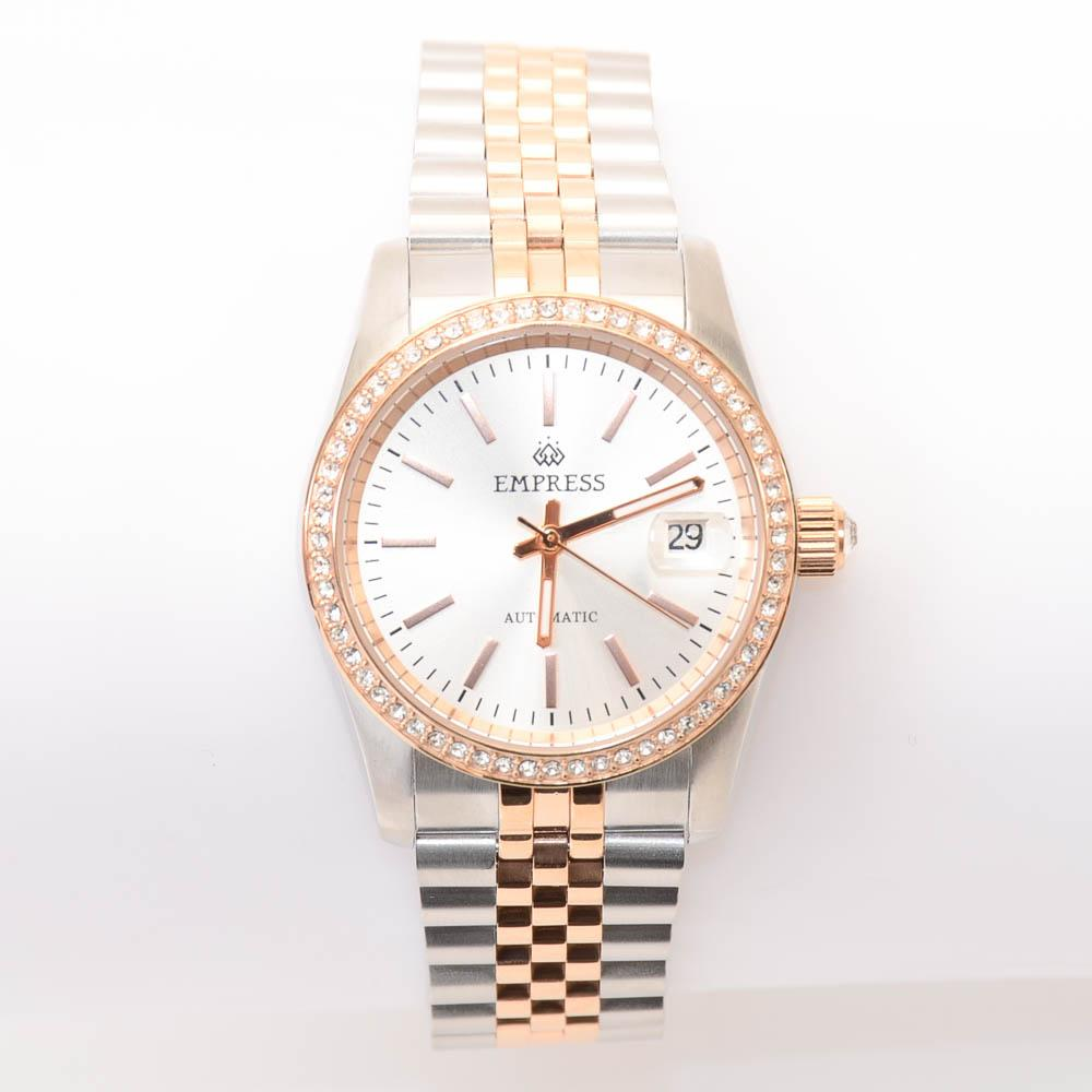 Empress Constance Crystal Round Stainless Steel Watch JEWELRY Empress Default Title