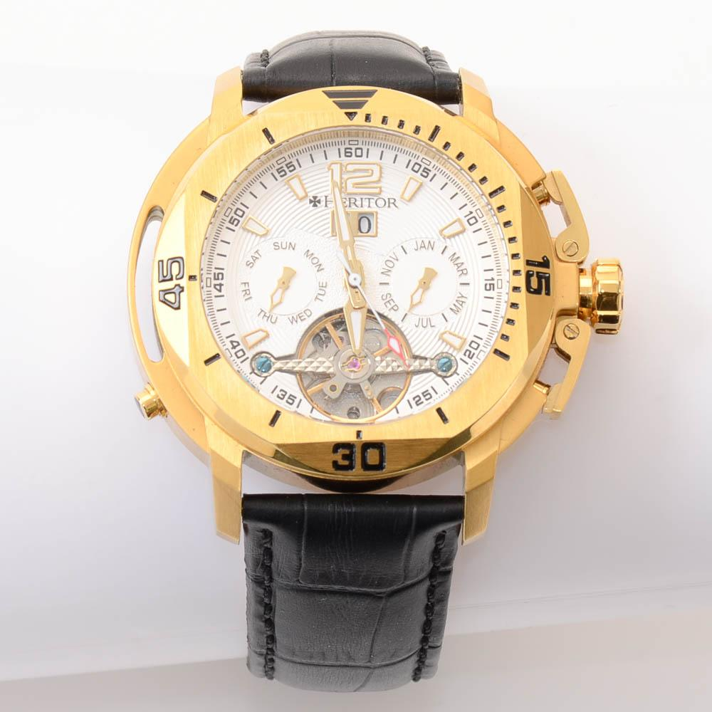 Heritor Lennon Automatic Gold-Tone Automatic Mens Watch JEWELRY Heritor Default Title