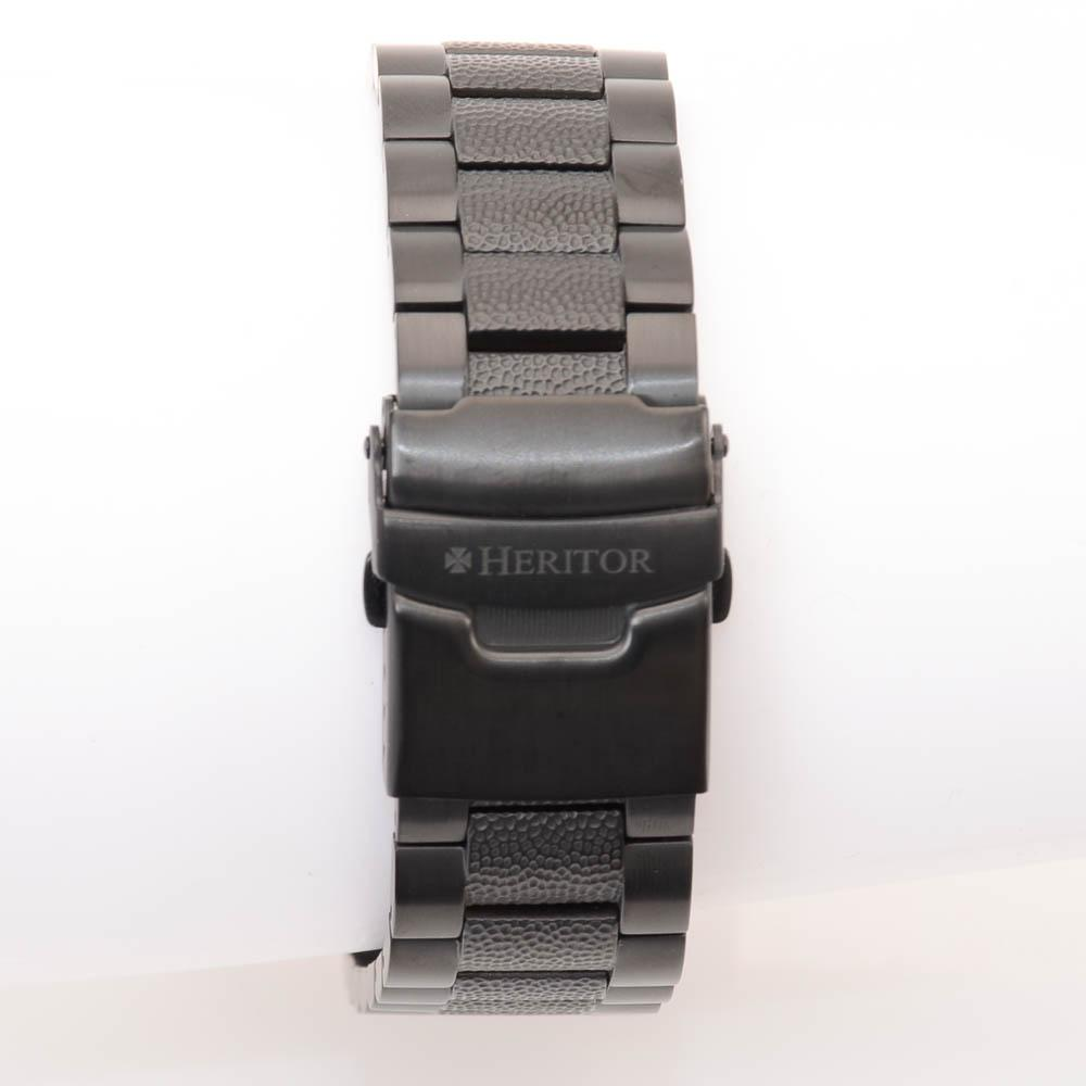 Heritor Spartacus Stainless Steel Hammered Automatic Watch JEWELRY Heritor