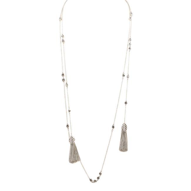Blue by Betsey Johnson Jazz Tassel Lariat Necklace JEWELRY Blue by Betsey Johnson Silver