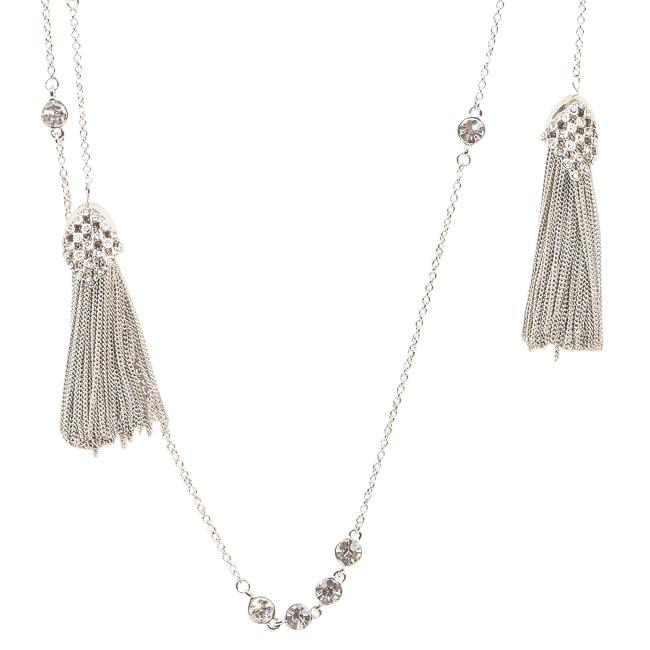 Blue by Betsey Johnson Jazz Tassel Lariat Necklace JEWELRY Blue by Betsey Johnson