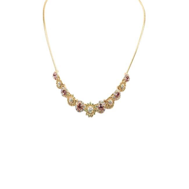 Blue by Betsey Johnson Slider Floral Necklace JEWELRY Blue by Betsey Johnson Pink