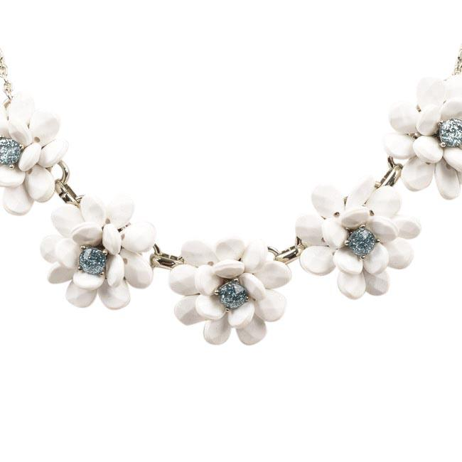 Blue by Betsey Johnson La La Floral Fontal Necklace JEWELRY Blue by Betsey Johnson