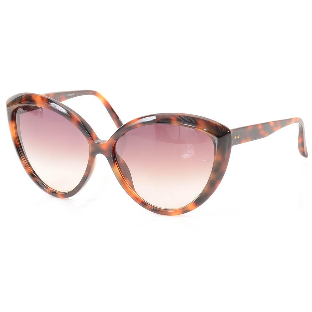 Linda Farrow Havana Cat Eye Sunglasses ACCESSORIES Linda Farrow 64-15-143 Brown