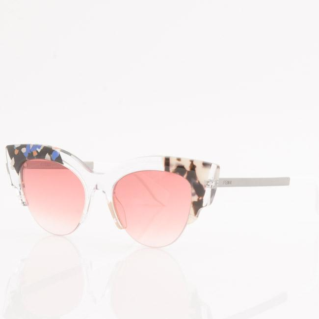 Fendi Jungle Semi-Transparent Cat Eye Sunglasses ACCESSORIES Fendi 50-18-140 Black