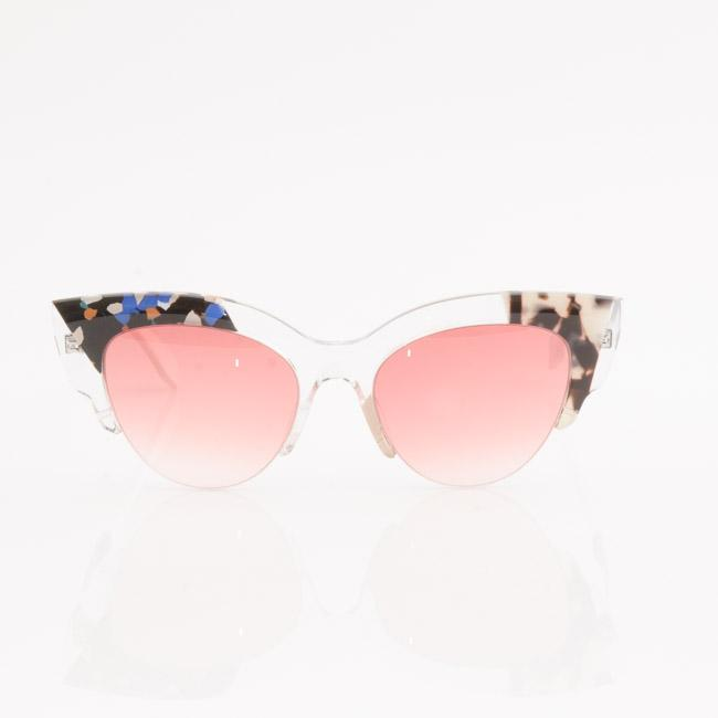 Fendi Jungle Semi-Transparent Cat Eye Sunglasses ACCESSORIES Fendi