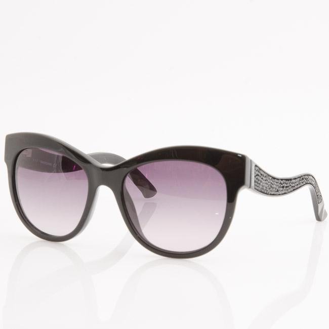 Swarovski Fabulous Embellished Cat Eye Sunglasses ACCESSORIES Swarovski 54-18-140 Black