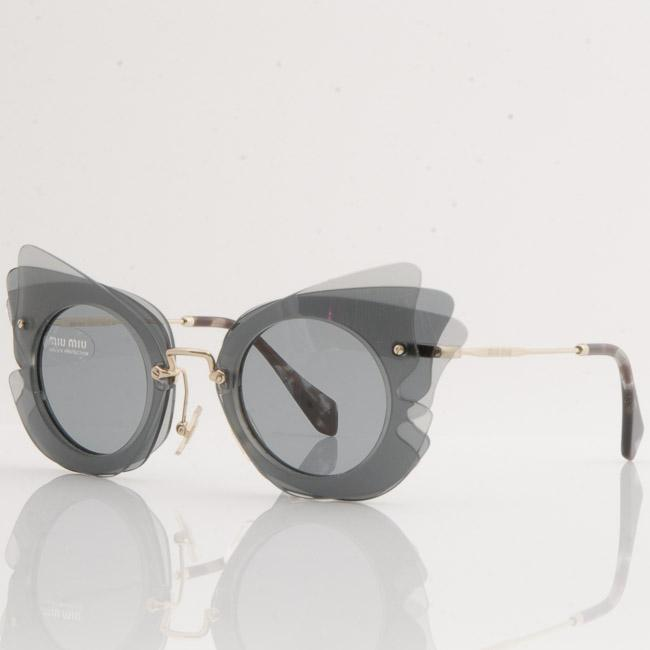 Miu Miu Layered Cat Eye Sunglasses ACCESSORIES Miu Miu 63-18-140 Blue