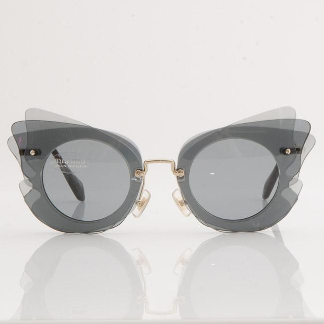 Miu Miu Layered Cat Eye Sunglasses ACCESSORIES Miu Miu