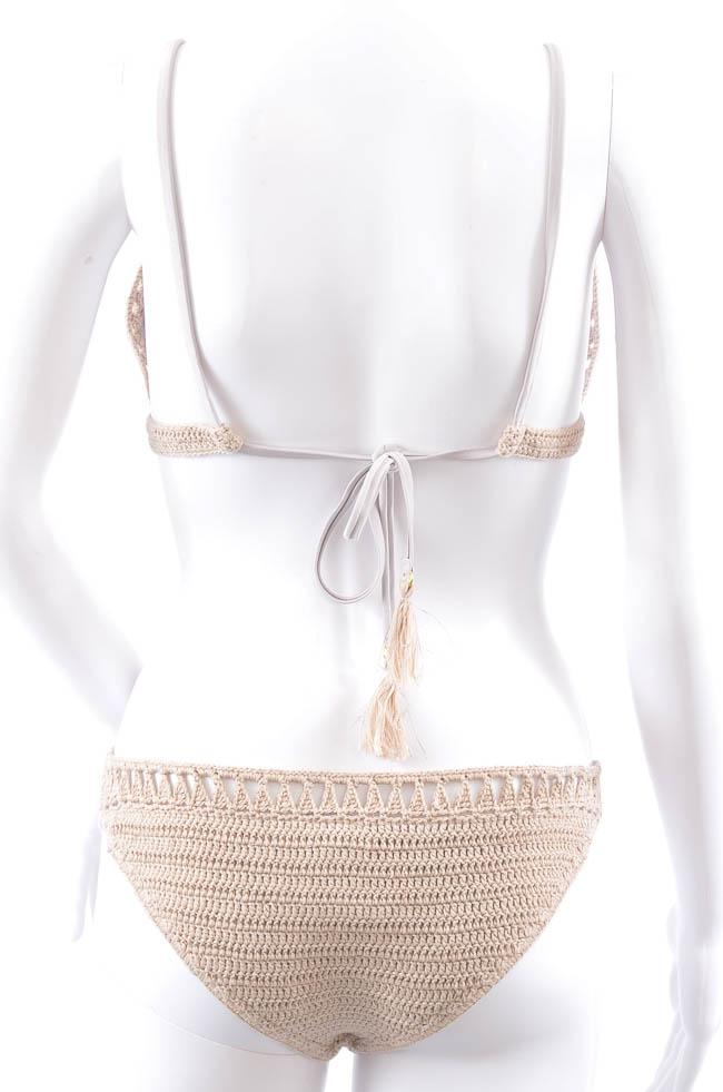 Suboo Metallic Crochet 2 Piece Knit Bikini Swim Set - L APPAREL Suboo