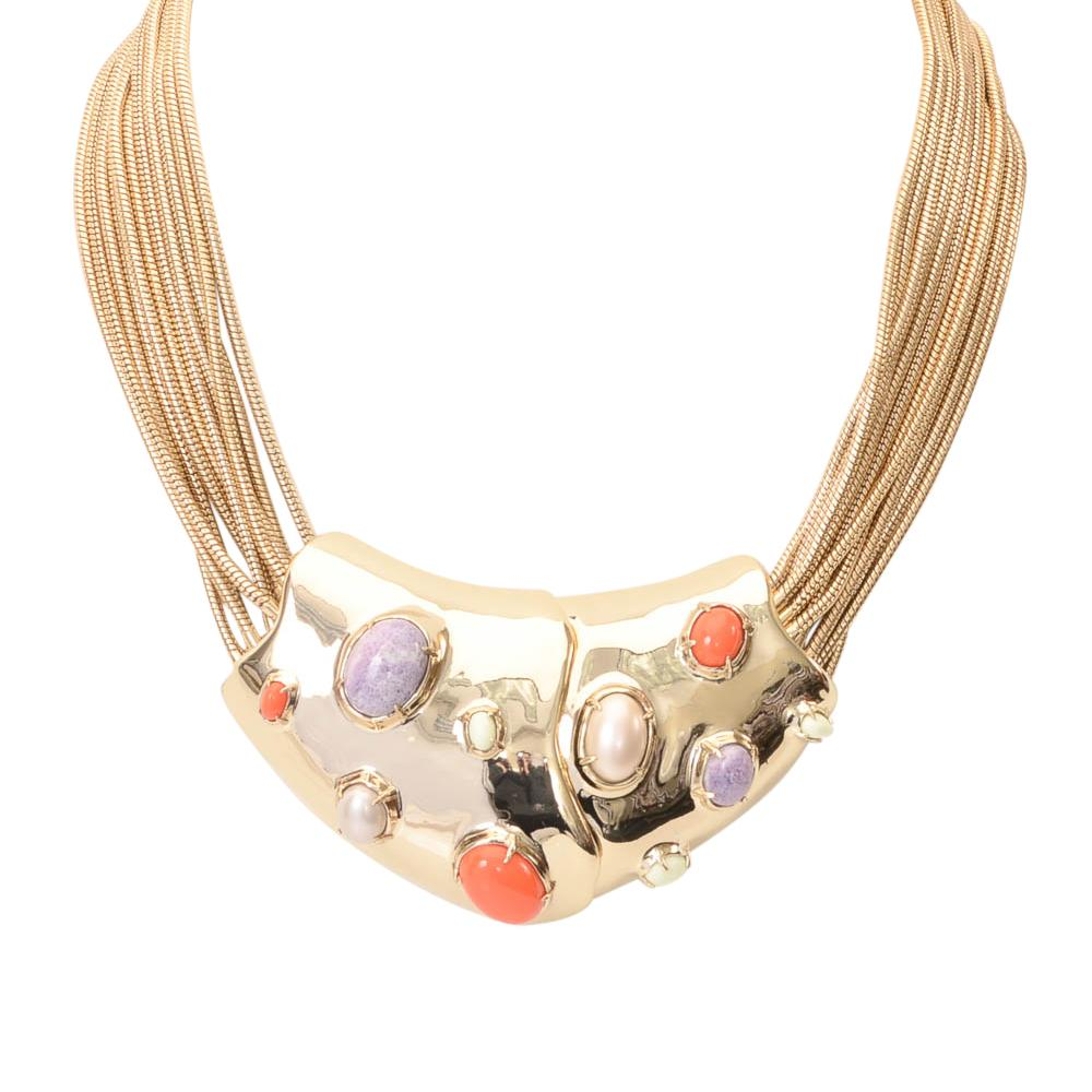 Alexis Bittar Multi-Strand Stone Statement Necklace JEWELRY Alexis Bittar Default Title